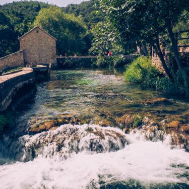 croatia driver guide - krka waterfalls